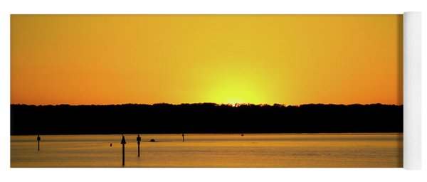 Yoga Mat featuring the photograph Sunset From National Harbor by Lora J Wilson