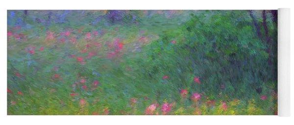 Sunset In Flower Meadow Yoga Mat