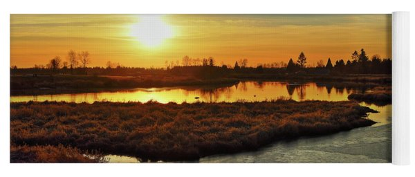 Sunset In Pitt Meadows Yoga Mat