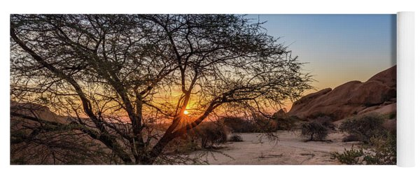 Sunset In Spitzkoppe, Namibia Yoga Mat