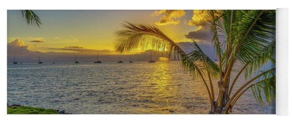 Sunset In Tahiti French Polynesia Yoga Mat