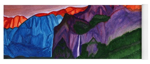 Sunset In The Mountains Yoga Mat