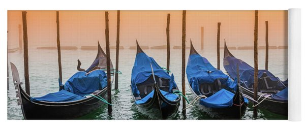 Sunset In Venice Yoga Mat