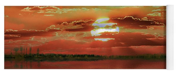 Yoga Mat featuring the photograph Sunset Lake by Bill Swartwout Fine Art Photography
