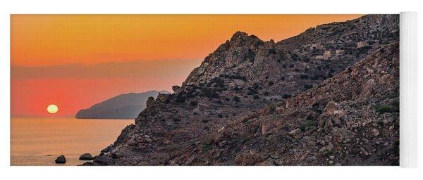 Sunset Near Cape Tainaron Yoga Mat