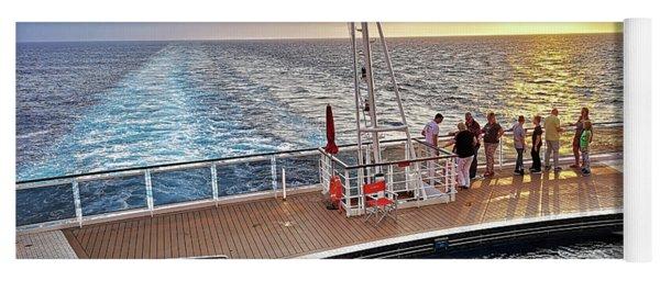 Sunset On A Caribbean Cruise On Msc Seaside, Back Of The Ship Yoga Mat