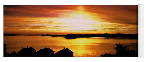 Sunset On Johnson Bay Yoga Mat
