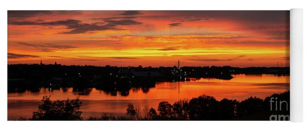 Sunset On Mainstee Lake Yoga Mat