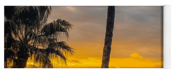 Sunset On The Island Yoga Mat