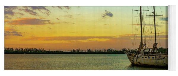 Sunset On The Lagoon Yoga Mat