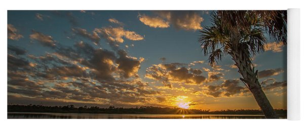 Sunset On The Pond Yoga Mat
