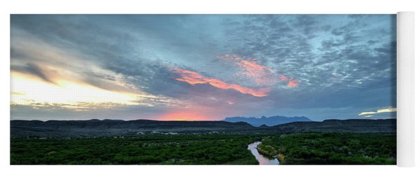 Yoga Mat featuring the photograph Sunset On The Rio Grande by Joe Sparks