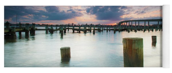 Yoga Mat featuring the photograph Sunset On The Severn River by Mark Duehmig