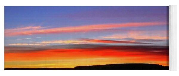 Sunset Over Navajo Lands Yoga Mat