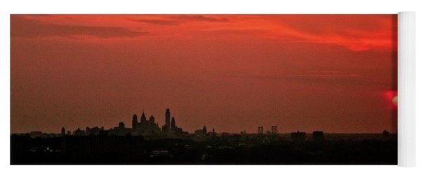 Sunset Over Philly Yoga Mat