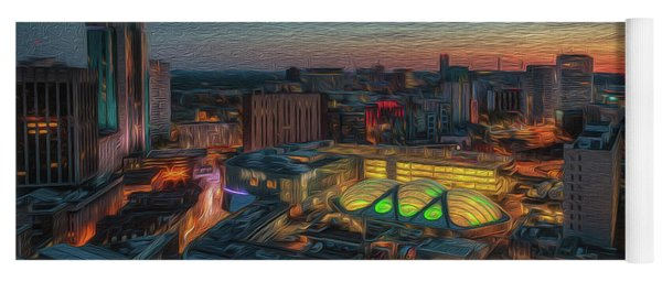 Sunset Over The City Yoga Mat