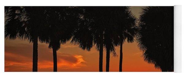 Sunset Over The Gulf Yoga Mat