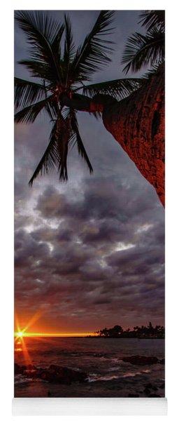 Sunset Palm Yoga Mat