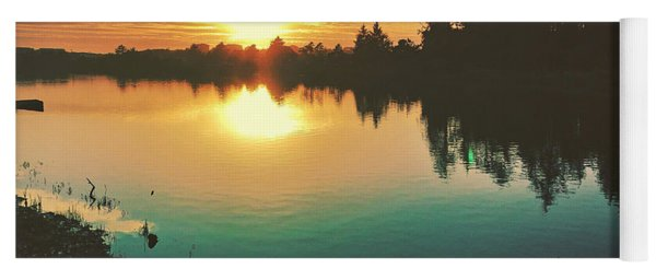 Sunset River Reflections  Yoga Mat