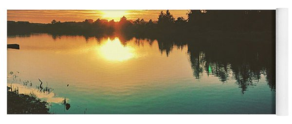 Sunset River Reflections  Yoga Mat