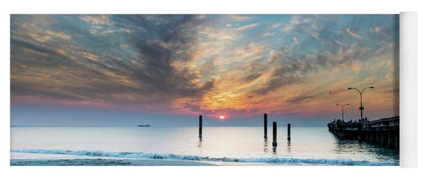 Sunset Seascape And Beautiful Clouds Yoga Mat