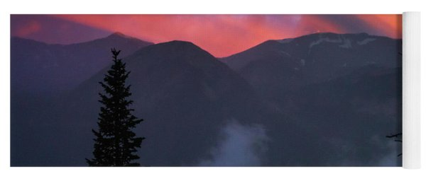 Sunset Storms Over The Rockies Yoga Mat