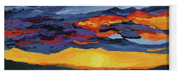 Sunset Streak Yoga Mat
