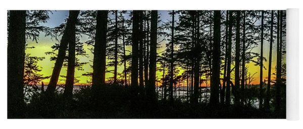 Yoga Mat featuring the photograph Sunset Thru The Trees by Ed Clark