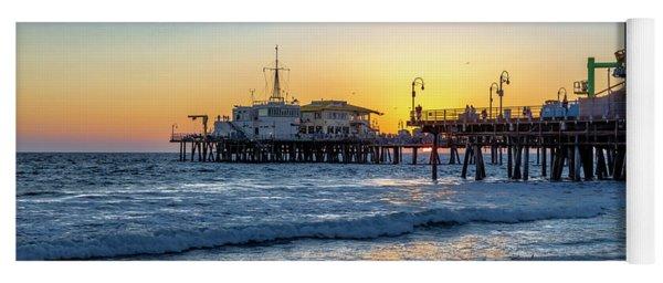 Sunset Under The Pier Yoga Mat
