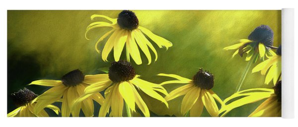 Sunshine On Black Eyed Susan Yoga Mat