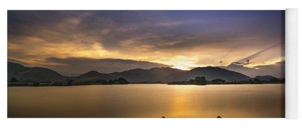 Sunset On The Lake Yoga Mat