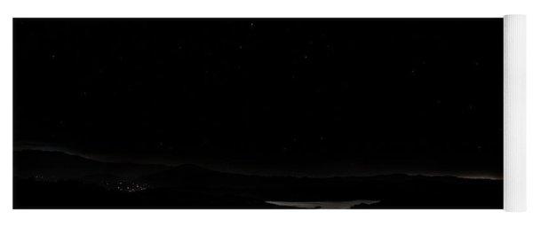Super Blood Wolf Moon Eclipse Over Lake Casitas At Ventura County, California Yoga Mat