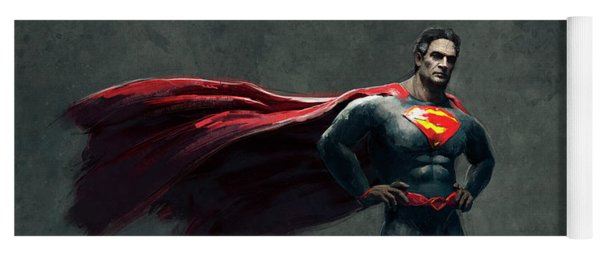 Superman Sketch 2 Yoga Mat