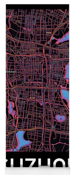Suzhou City Map Yoga Mat