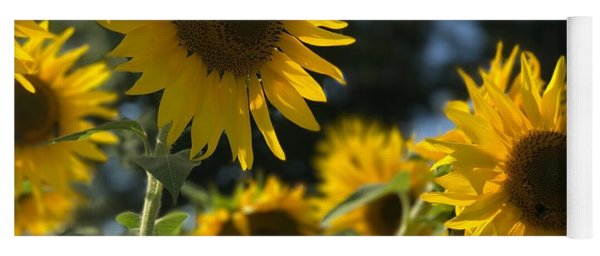 Yoga Mat featuring the photograph Sweet Sunflowers by Lora J Wilson