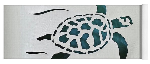 Yoga Mat featuring the mixed media Swimmer by Phyllis Howard