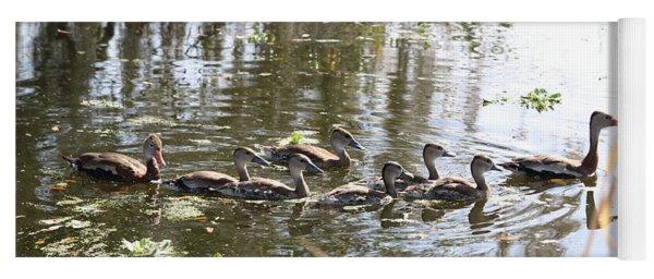 Swimming Black-bellied Whistling Duck Family Yoga Mat