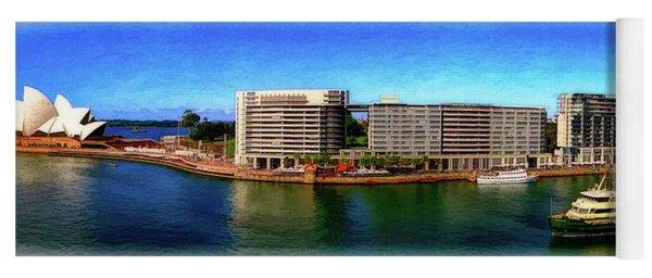 Sydney Harbor Panoramic Yoga Mat