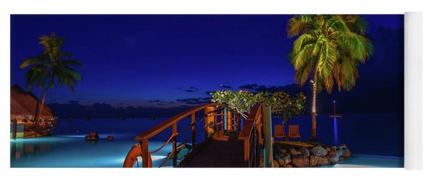 Tahitian Nightscape Yoga Mat