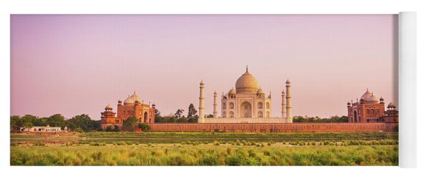 Taj Mahal Across The River Yoga Mat