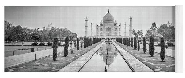 Taj Mahal Black White Yoga Mat
