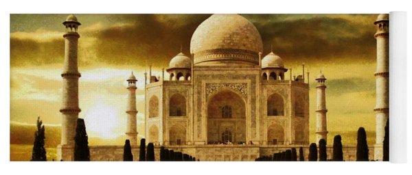 Taj Mahal In The Morning Yoga Mat