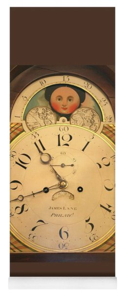 Tall Case Clock Face, Around 1816 Yoga Mat