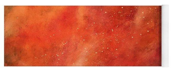 Tangerine Nebula Cloud Yoga Mat