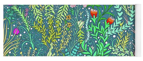 Tapestry Design In Persian Blue  Yoga Mat