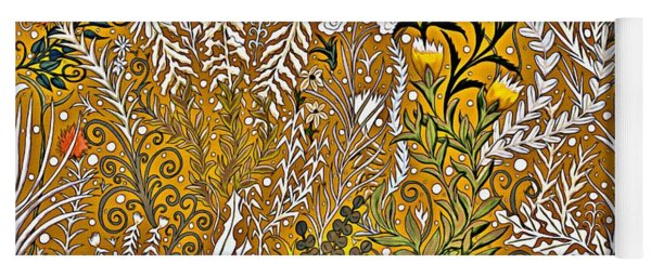 Tapestry Design With Gold And Autumn Colors Yoga Mat