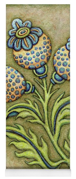 Tapestry Flower 6 Yoga Mat