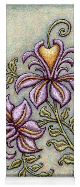 Tapestry Flower 8 Yoga Mat