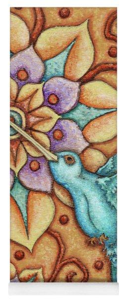 Tapestry Hummingbird Yoga Mat
