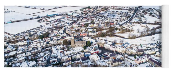Tregaron In The Snow, From The Air Yoga Mat